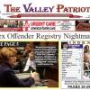 PRINT EDITION OF The Valley Patriot October, 2017 Sex Offender Registry Nightmare