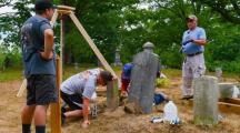 Fixing Veterans' Graves in Haverhill